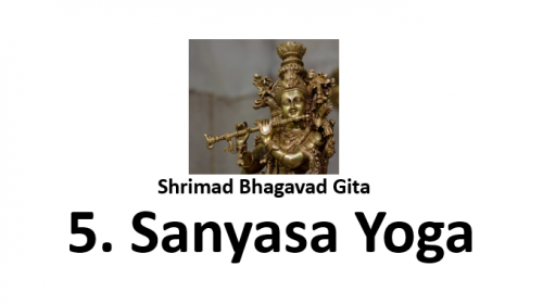 sanyasa yoga shrimad bhagavad gita